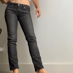 Paige charcoal denim with straight leg